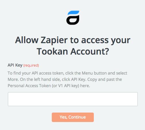 Tookan API Key