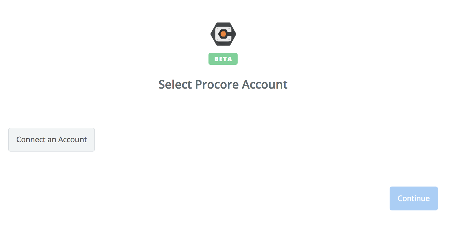 Click to connect Procore