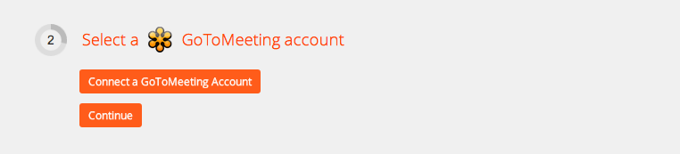 Click to add a GoToMeeting account