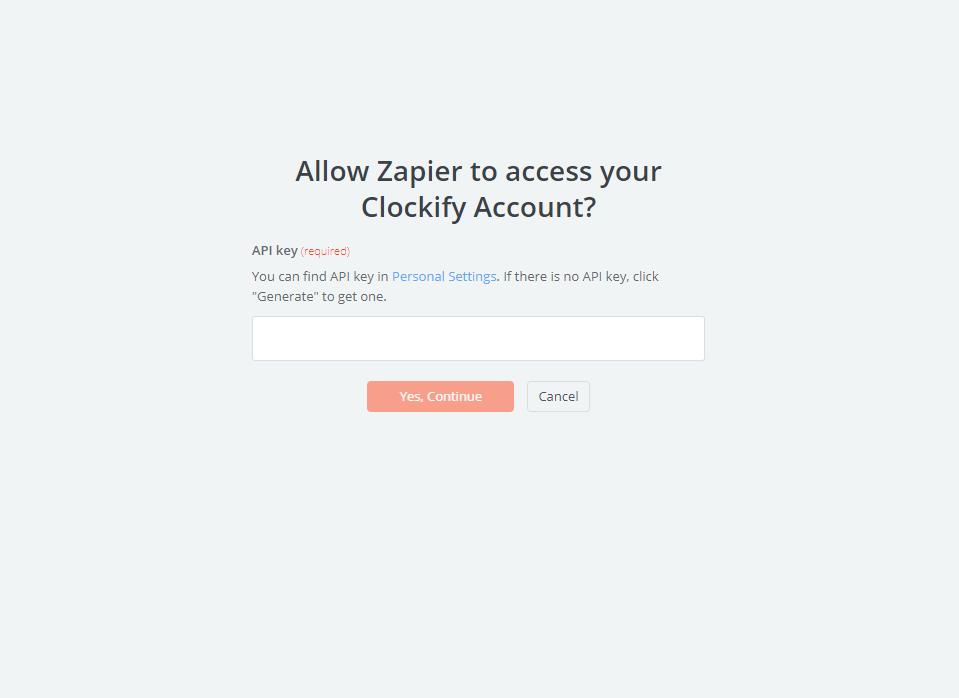 Clockify API Key