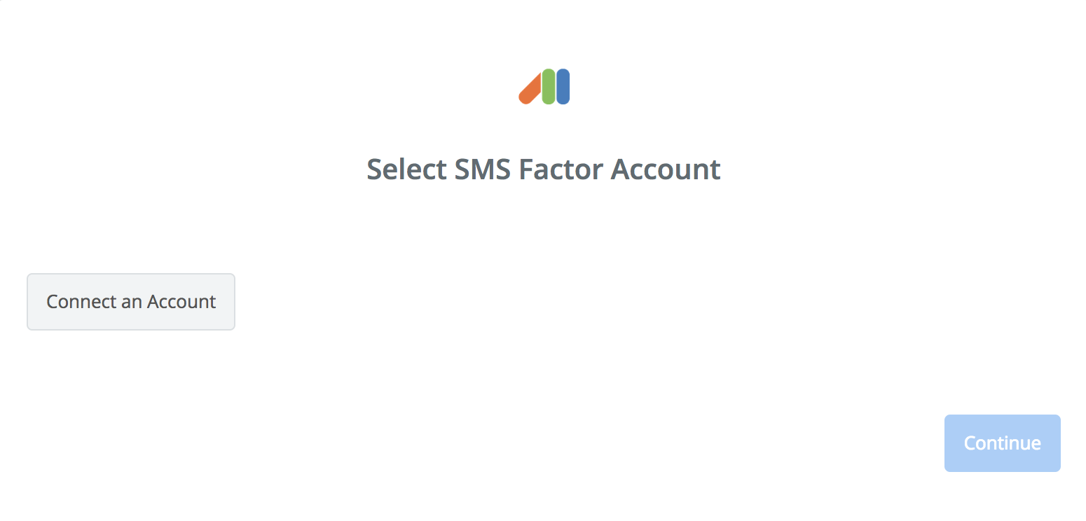 Click to connect SMS Factor
