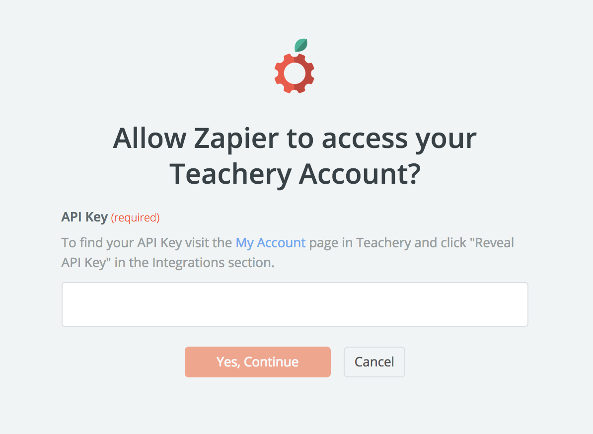 Teachery API Key