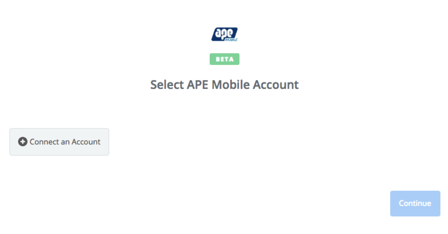 Click to connect APE Mobile