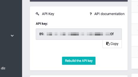 SMS Partner API Key in APP account