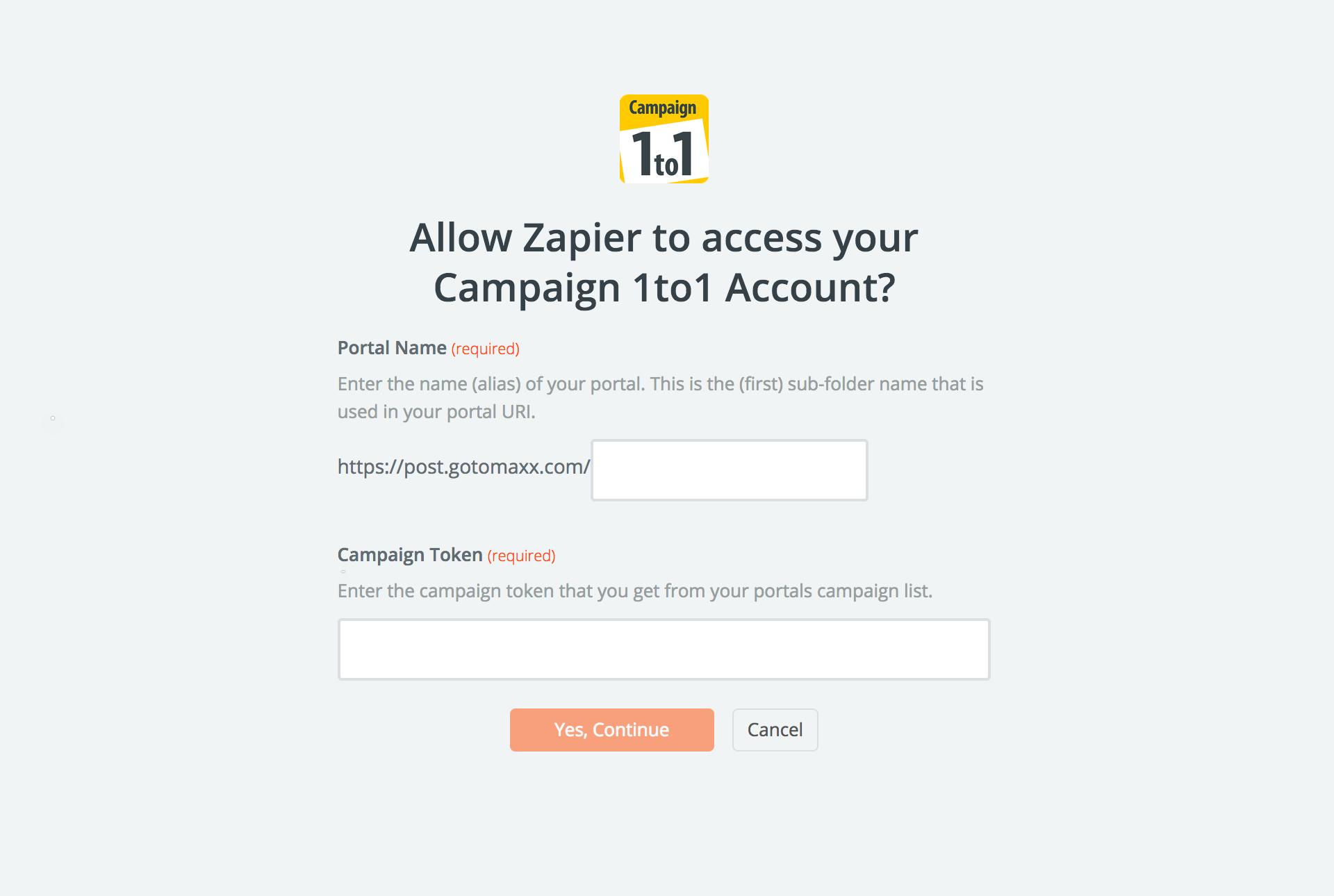 Campaign 1to1 API Key