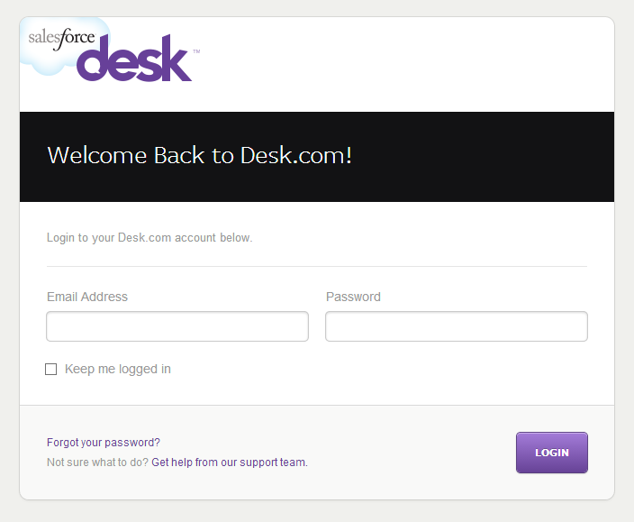 Log in to authorize your Desk account