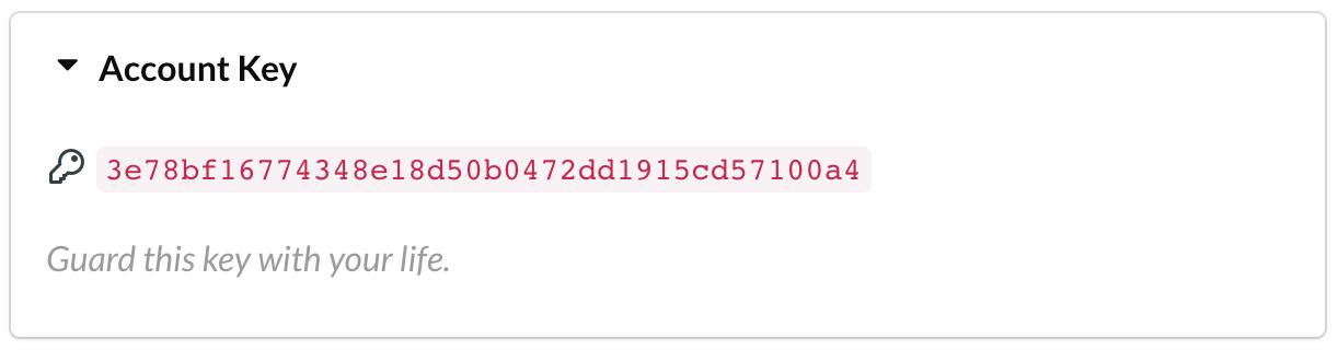 SimpleSat API Key in account
