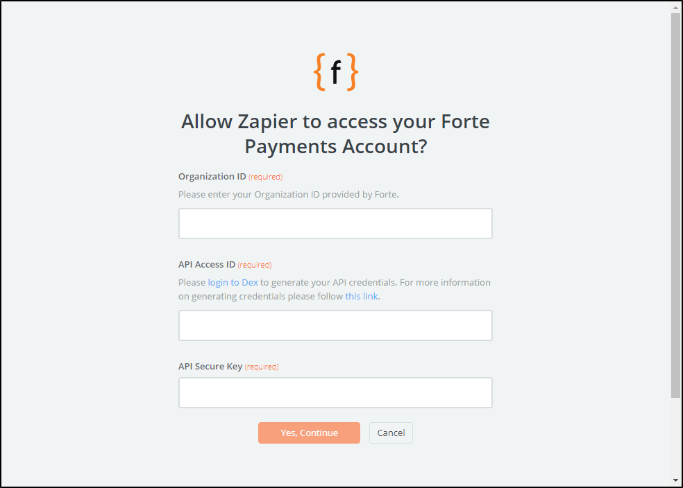 Forte Payments API Key