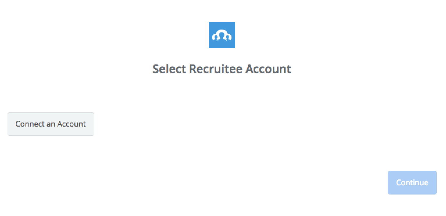 Click to connect Recruitee
