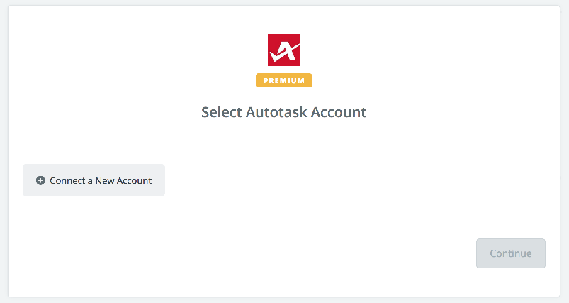 Click to connect Autotask