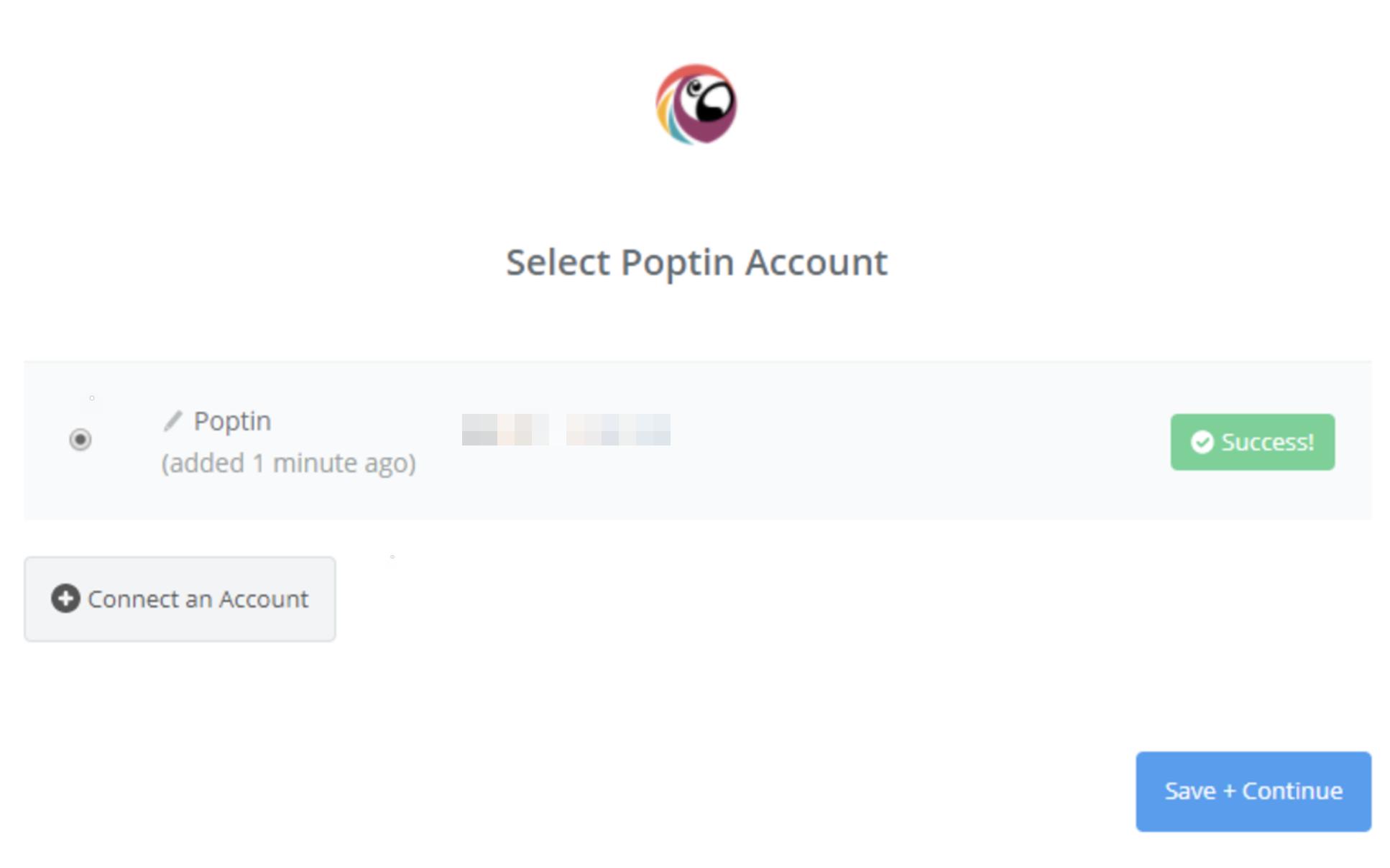 Poptin connection successfull