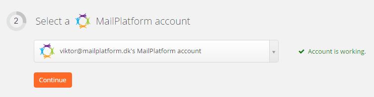MailPlatform connection successfull