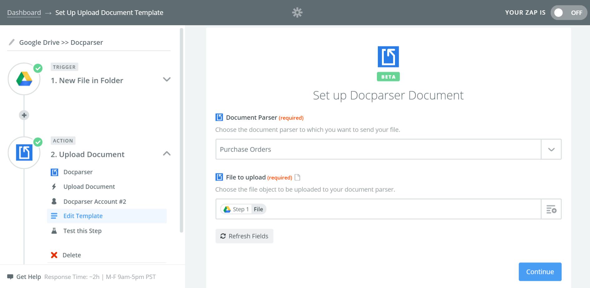 Docparser - Integration Help & Support | Zapier