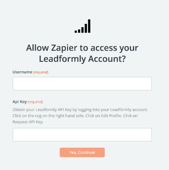 Leadformly API Key