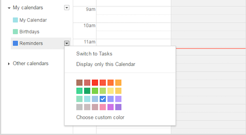 Switch between Reminders and Tasks