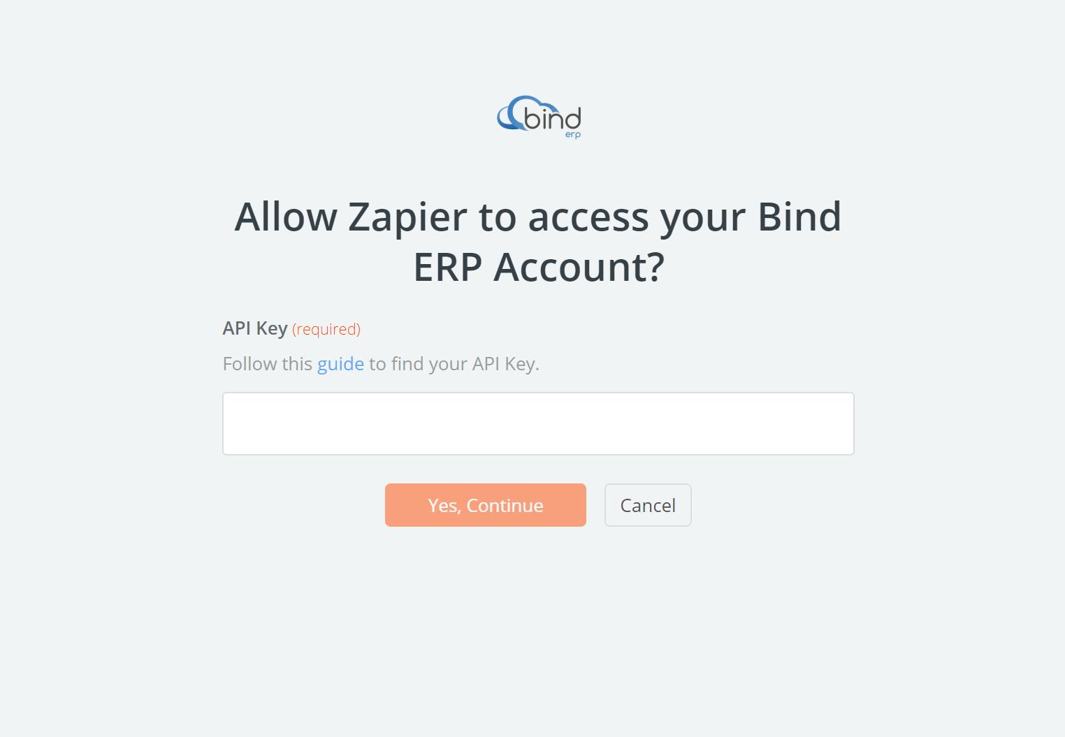 Bind ERP API Key