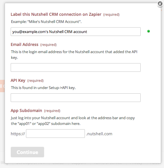 Give your Nutshell CRM account a title