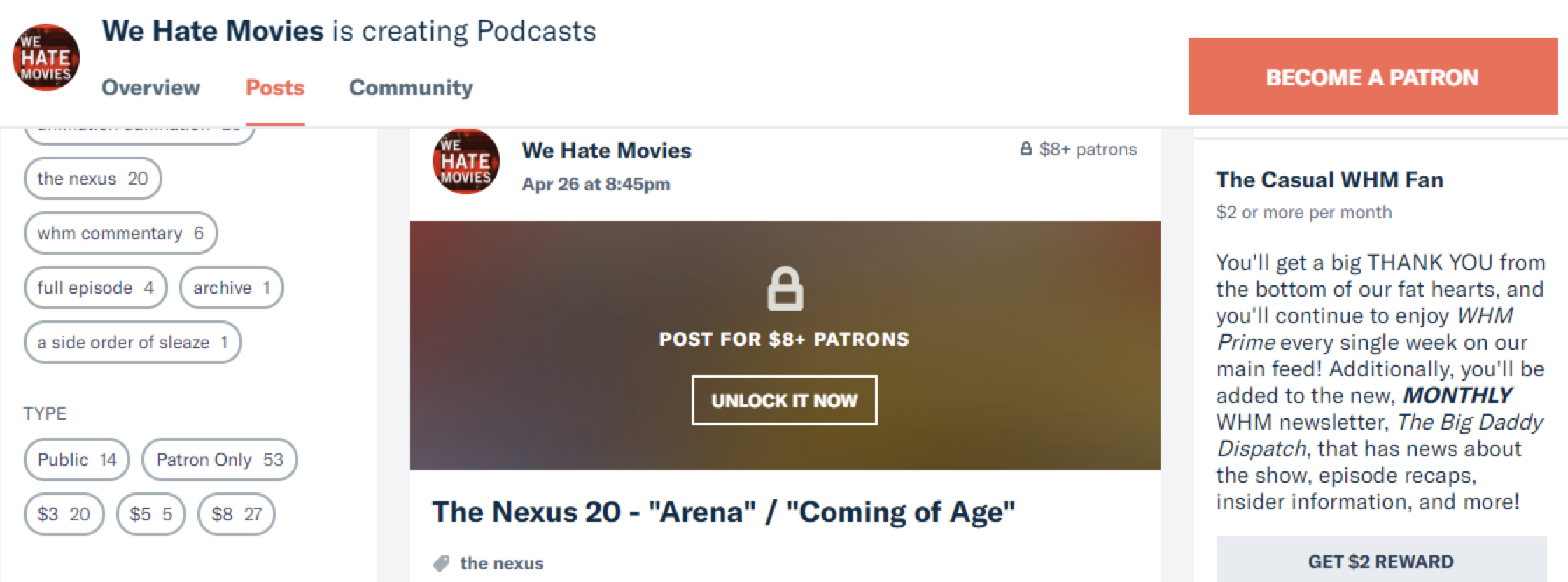 We Hate Movies on Patreon