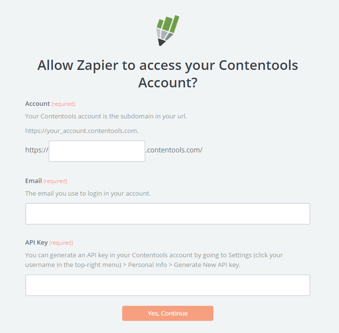 Contentools API Key