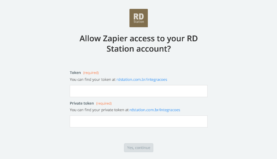 RD Station API Key
