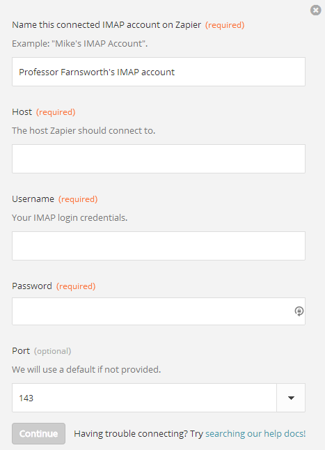 IMAP - Integration Help & Support | Zapier