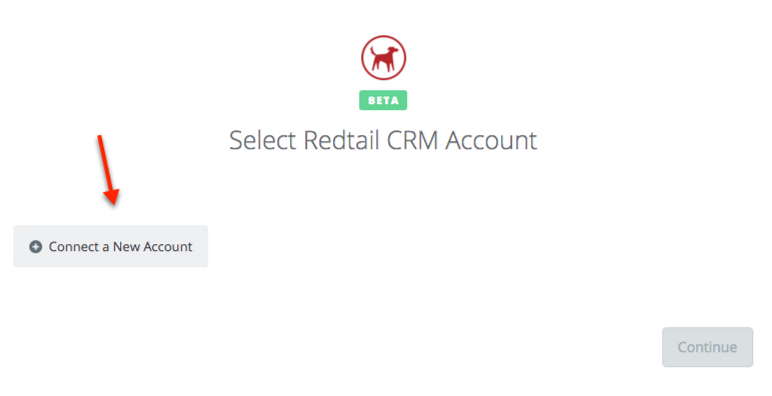 Click to connect Redtail CRM
