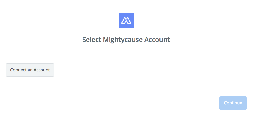 Click to connect Mightycause