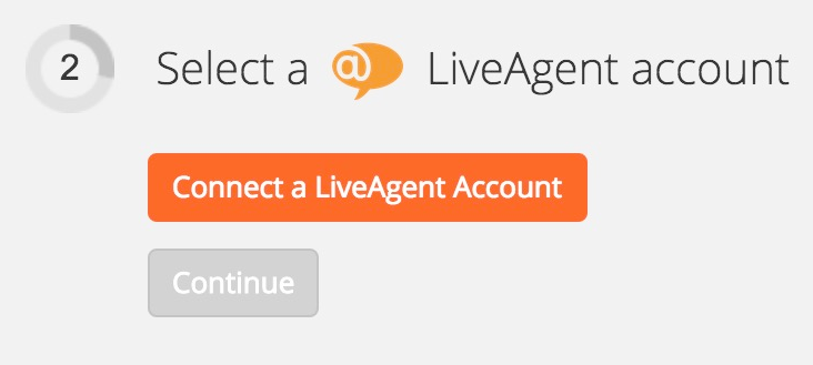 Connecting LiveAgent account