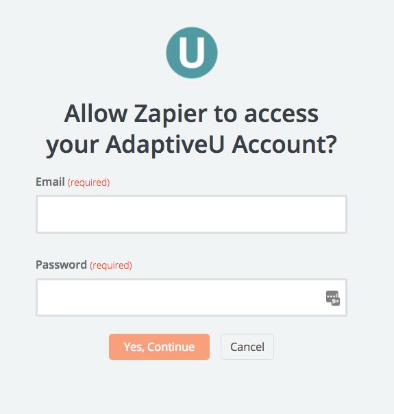 AdaptiveU username and password