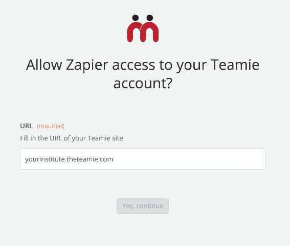 log in to Teamie
