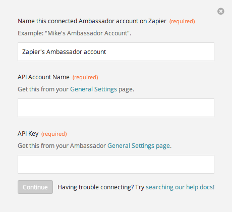 Finding your Ambassador API Key