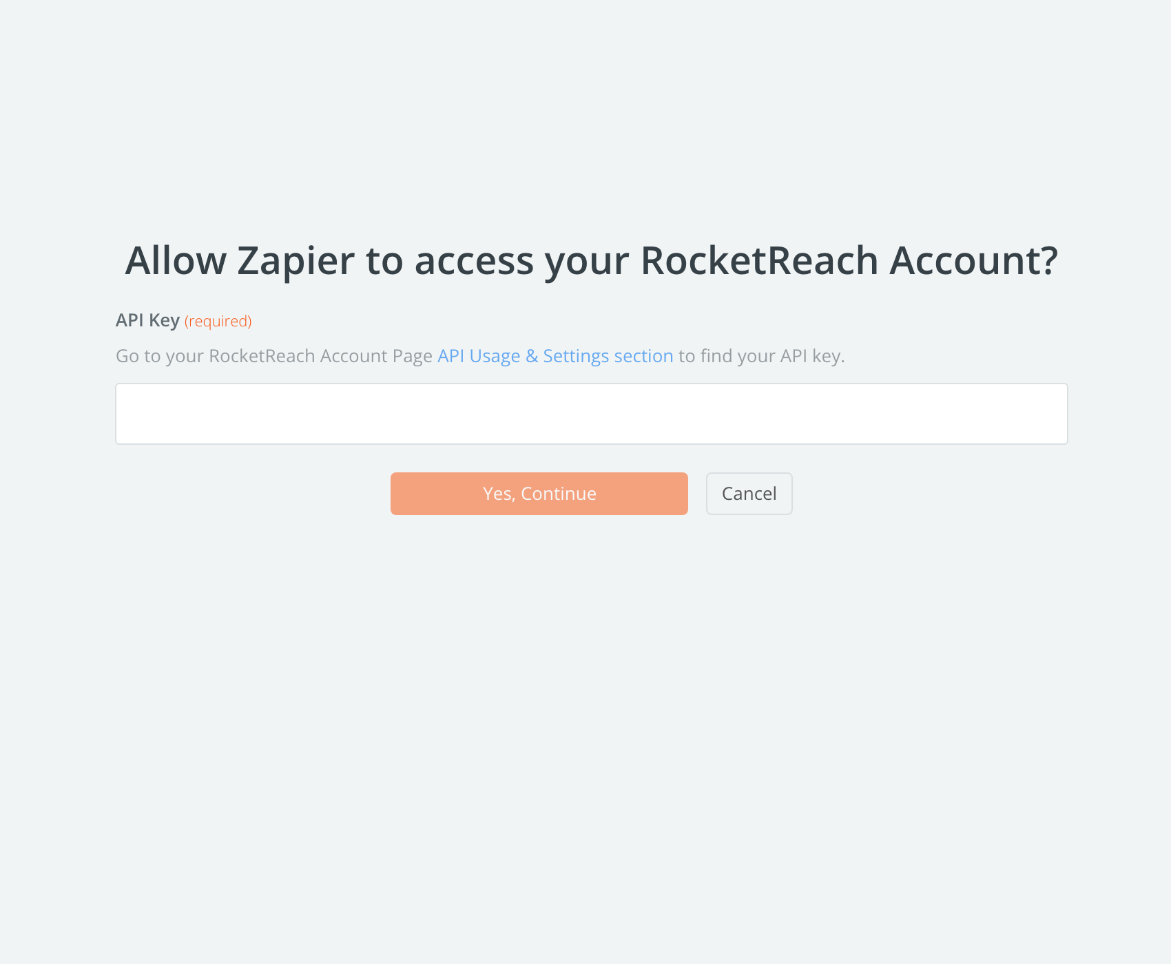 RocketReach API Key
