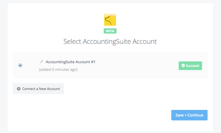 AccountingSuite connection successfull