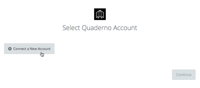 Click to connect Quaderno