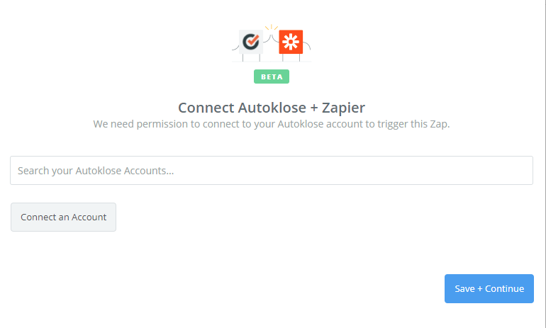 Click to connect Autoklose