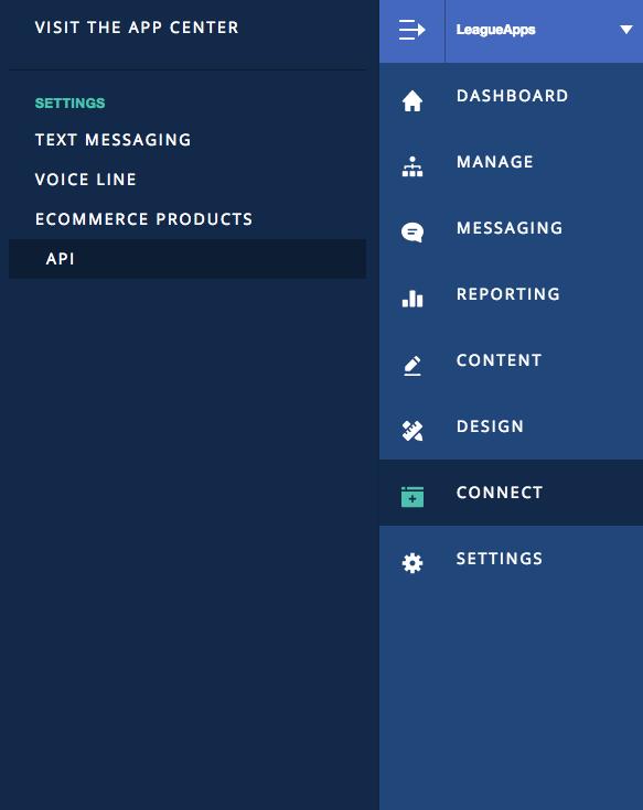 LeagueApps API Key in account