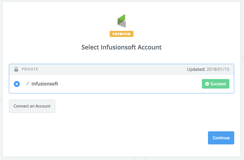 Your Infusionsoft account is authorized