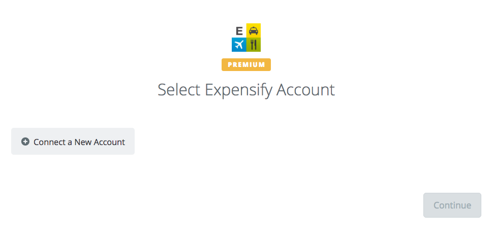 Click to connect Expensify