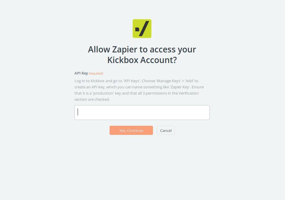 Kickbox API Key