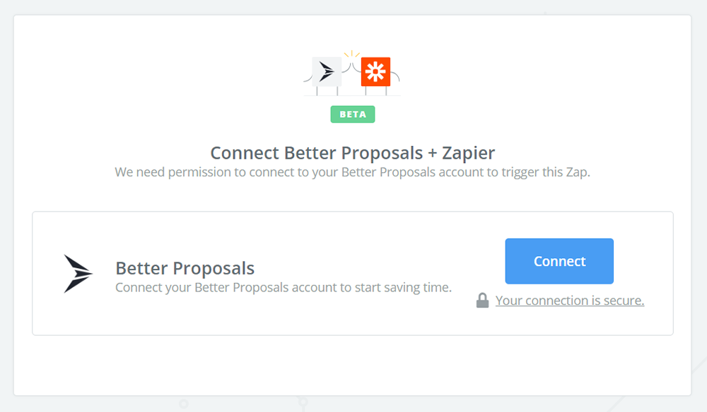 Click to connect Better Proposals