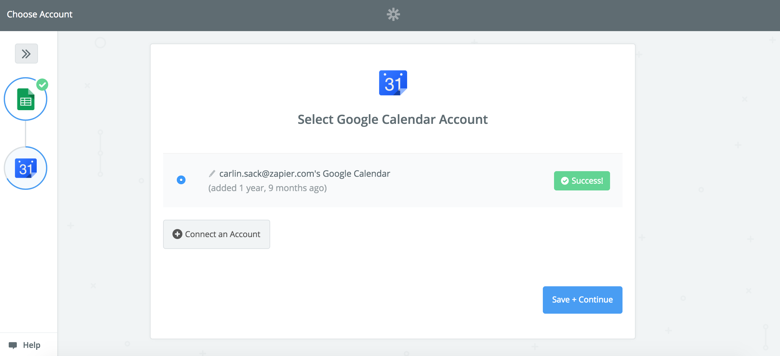 Connect your Google Calendar account