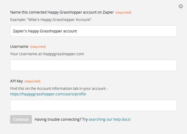 Finding your Happy Grasshopper API Key