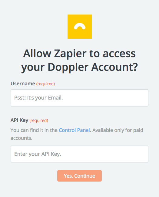 Doppler API Key