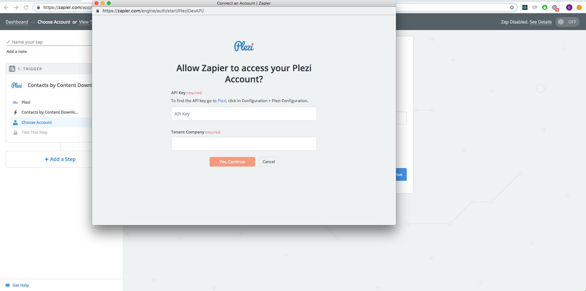 Plezi API Key