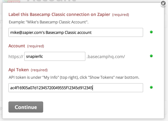 Connect Basecamp Classic Step 3