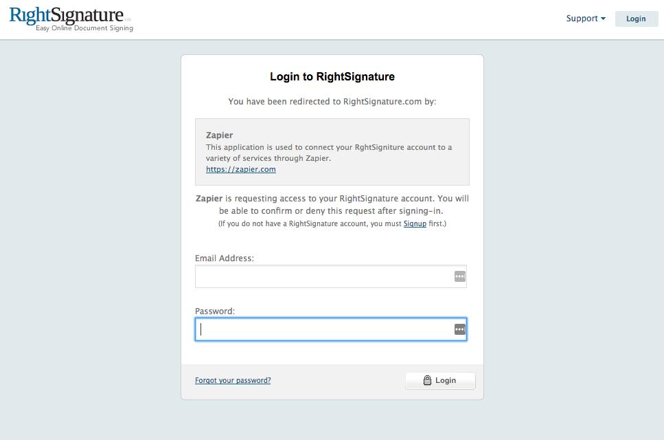 Login to RightSignature