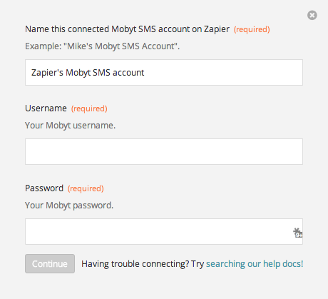 Mobyt SMS Username and Password