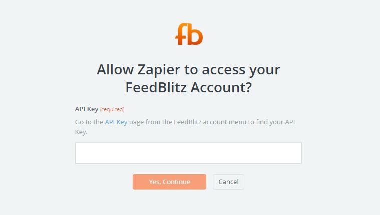 FeedBlitz API Key