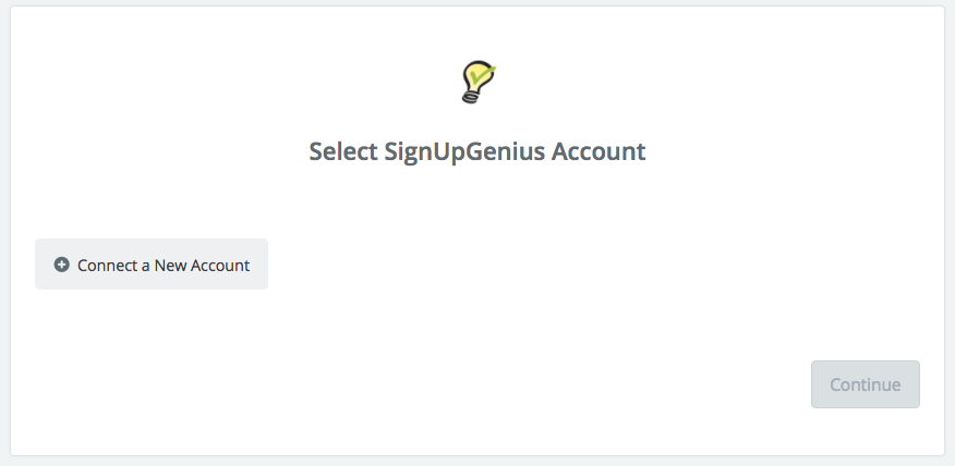 Click to connect SignUpGenius