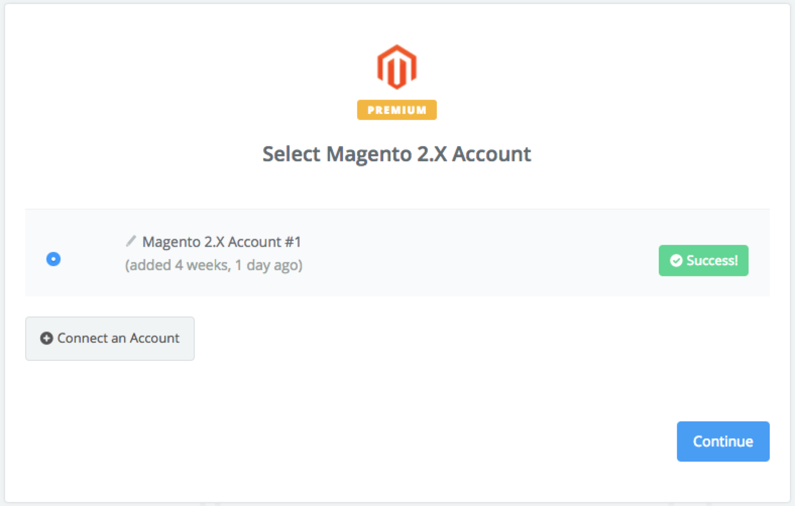 Magento 2.X connection successfull